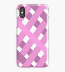 Fabric Gingham Pink  iPhone Case