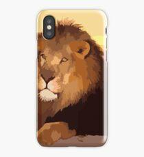 illustrator - Lion photograph iPhone Case