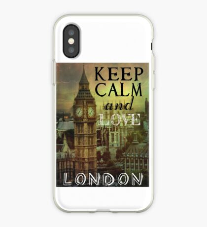 Keep calm and love London iPhone Case
