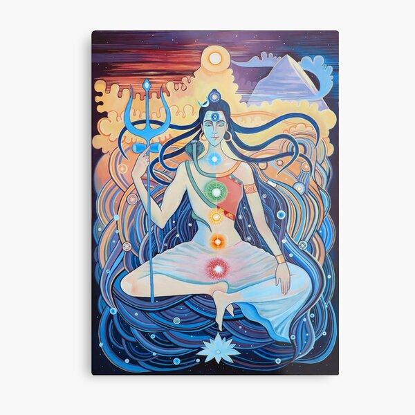 Shiva and Shakti. Man and woman.  Metal Print