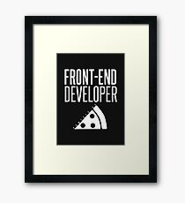 Front End Developer Powered By Pizza Framed Print