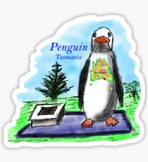 The town of Penguin, Tasmania Sticker