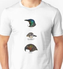 New Zealand birds illustrations Unisex T-Shirt