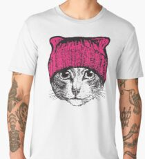 Pussyhat Protest Shirt - Women's March Pussycat Pink Hat Shirt Men's Premium T-Shirt