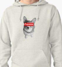 Pupreme Corgi - Dog X Supreme Pullover Hoodie