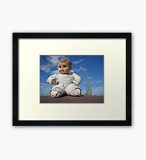 Catavina doll Framed Print