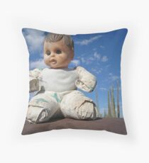 Catavina doll Throw Pillow