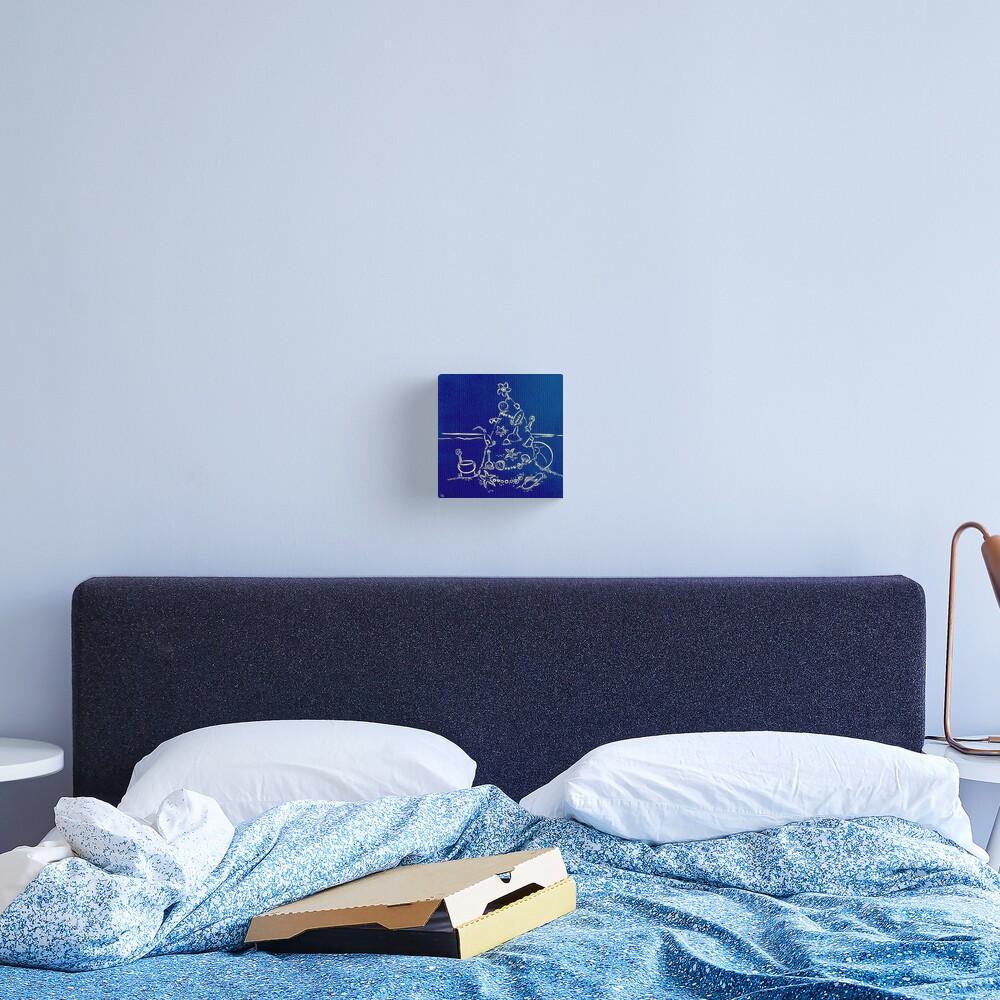 Australian Christmas in Blue Canvas Print