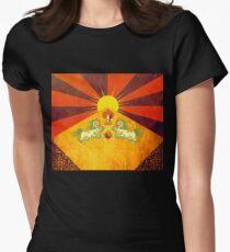 Tibet - golden flag of happiness Women's Fitted T-Shirt