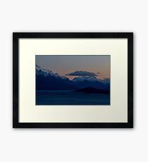 Sunrise Over The Mountain Framed Print