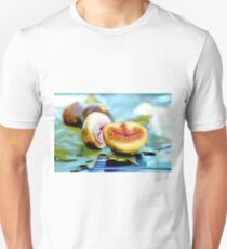 Fresh ripe figs with fig leaves  Unisex T-Shirt