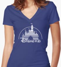 Disnerd - White Women's Fitted V-Neck T-Shirt