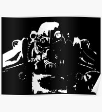 Fallout 3, Fallout New Vegas, Fallout 4 - T45 Power Armour Silhouette Poster