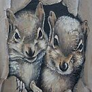 Two Little Squirrels  by Kim Donald