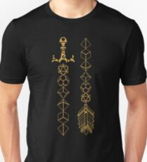 Polyhedral Dice Set Sword and Arrow Tabletop RPG Gaming Unisex T-Shirt