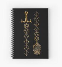 Cuaderno de espiral Juego de dados poliédricos Juego de rol de espada y flecha para mesa