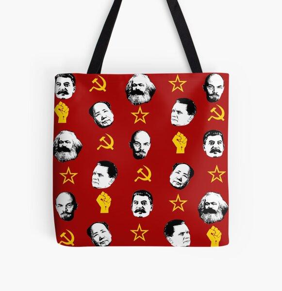 Communist Leaders All Over Print Tote Bag