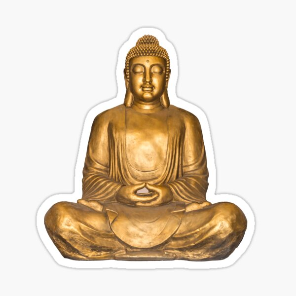 Golden Buddha for Inner Peace and Positive Vibes Sticker