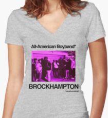 Brockhampton All-American Boyband Women's Fitted V-Neck T-Shirt