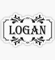 Frame Name Logan Sticker
