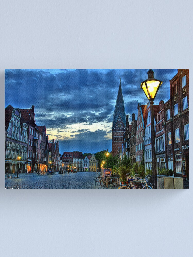 Alternate view of Lüneburg in the Morning Canvas Print