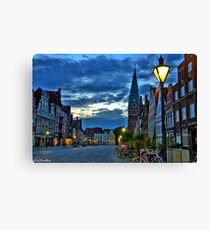 Lüneburg in the Morning Canvas Print