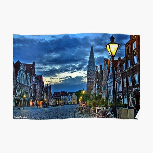Lüneburg in the Morning Poster