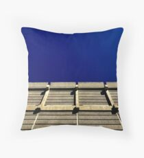 Blue, brutal ,beautiful  Throw Pillow