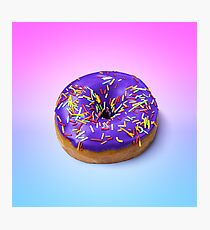 Donuts with icing on colorful background. Photographic Print