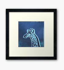 We love Giraffes - choose your colour Framed Print