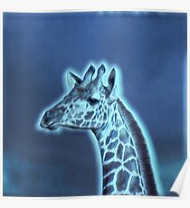 We love Giraffes - choose your colour Poster