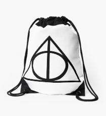 deathly hallows Drawstring Bag