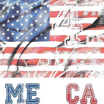 4th of july Murica America American Flag by masliankaStepan