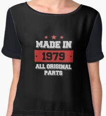 Made in 1979 - All Original Parts Birthday Gift Chiffon Top