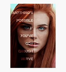 Ginny Weasley - Got enough nerve Photographic Print