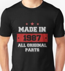 Made in 1987 - All Original Parts Birthday Gift Unisex T-Shirt