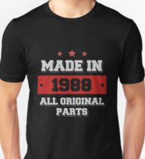 Made in 1988 - All Original Parts Birthday Gift Unisex T-Shirt