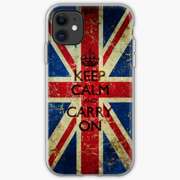 Grunge Keep Calm and Carry On Union Jack iPhone Soft Case