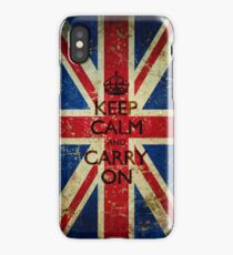 Grunge Keep Calm and Carry On Union Jack iPhone Case