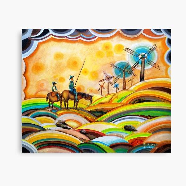 Don Quixote de La Mancha and Sancho Panza Canvas Print