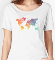 Map of the world colored Women's Relaxed Fit T-Shirt