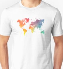 Map of the world colored T-Shirt