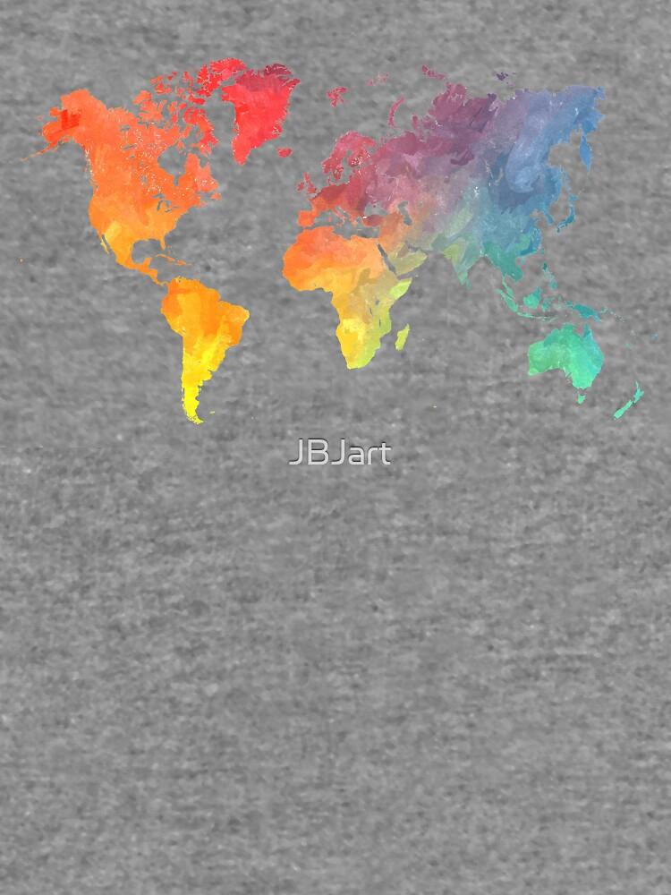 Karte der Welt gefärbt von JBJart
