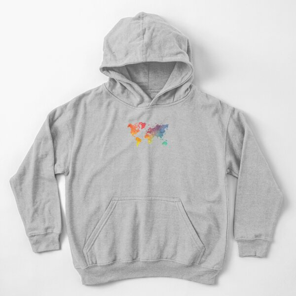 Map of the world colored Kids Pullover Hoodie