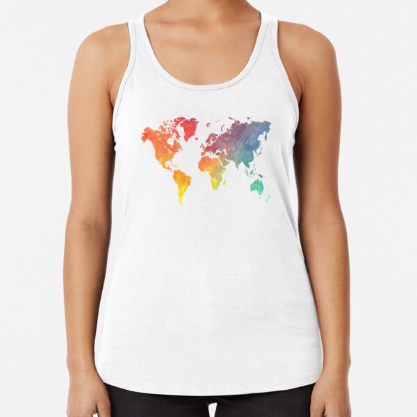 Map of the world colored Racerback Tank Top