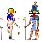 Gods and Goddess of Ancient Egypt by siloto