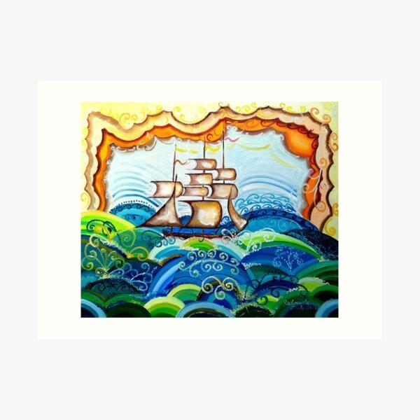 Flying Ship Art Print