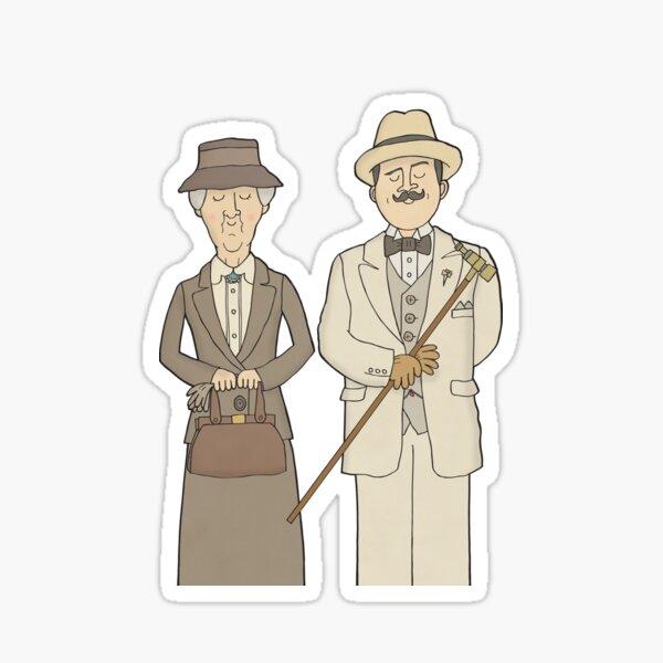 Marple and Poirot Sticker