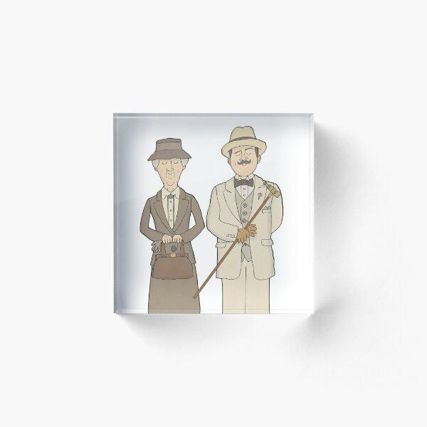 Marple and Poirot Acrylic Block