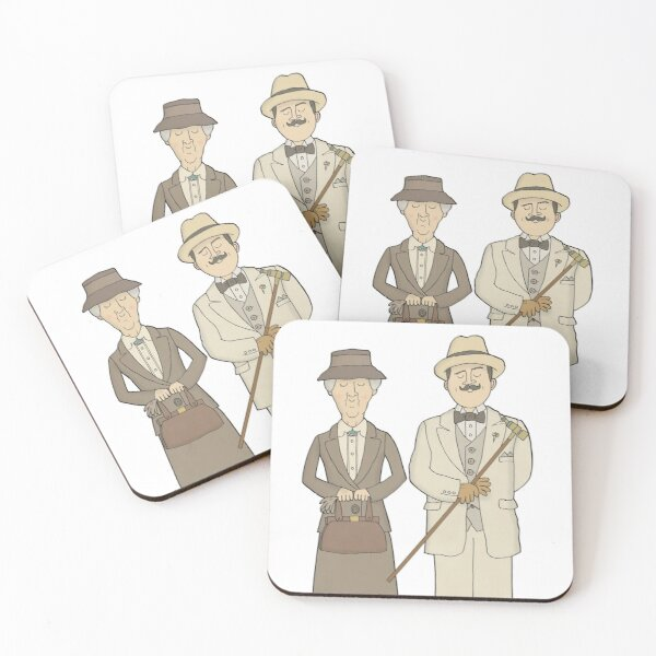 Marple and Poirot Coasters (Set of 4)